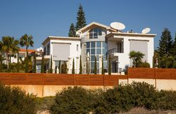 House. Luxurious house with stylish details in Cyprus Royalty Free Stock Photography