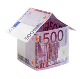 The house  made of 500 Euro  banknotes Royalty Free Stock Photo