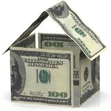 A house made of American dollar bills Royalty Free Stock Photo
