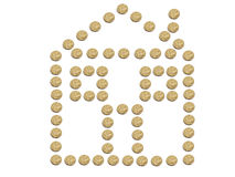 House made of Australian Dollar coins Stock Image