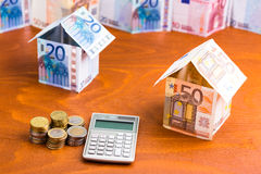 House made of bank notes Stock Image