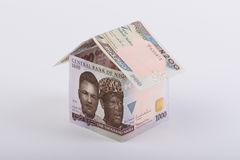 House made of Bank Notes Stock Images