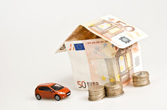 House made by banknotes Royalty Free Stock Images