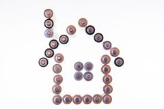 House made from batteries Royalty Free Stock Photos