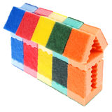 House made of cleaning sponges Stock Photography