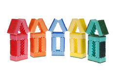 House made of cleaning sponges Stock Images