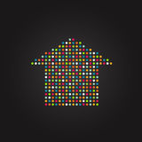 House made from color dots Royalty Free Stock Photography
