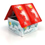 House made of credit cards Royalty Free Stock Image