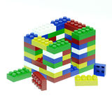 House is made of differend colored blocks Royalty Free Stock Images