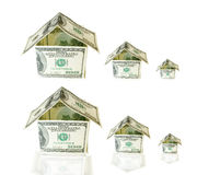 House made from dollar bills. A house made from dollar bills Stock Photography