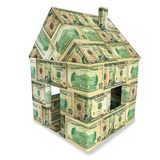 House made of 10 dollar bills. House made of 10 american dollar bills Stock Images
