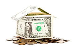 House made from dollars Royalty Free Stock Images