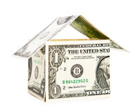 House made from dollars Royalty Free Stock Photos