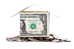 House made from dollars Stock Image