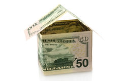 House made of dollars Royalty Free Stock Images