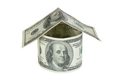 House made of dollars Royalty Free Stock Photography