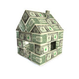 House made of dollars Royalty Free Stock Photos