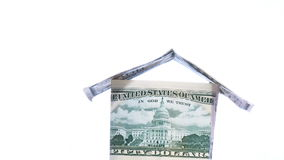House made of Dollars stock footage