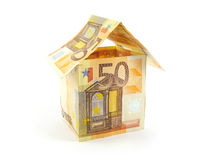 House  made of euro Royalty Free Stock Photos