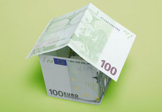 House made from euro Royalty Free Stock Image