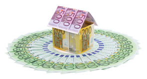 House made of euro banknotes. Stock Photography