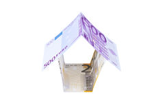 House made of euro banknotes Royalty Free Stock Photo