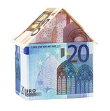 The house made of Euro banknotes Royalty Free Stock Images