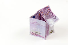 House made with 500 euro banknotes Stock Images