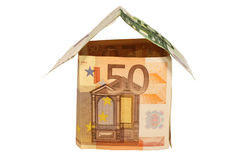 A house made from euro bills Stock Photography