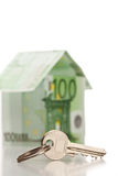 House made from euro bills Royalty Free Stock Photo