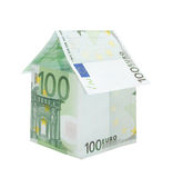 A house made from euro bills Royalty Free Stock Photography