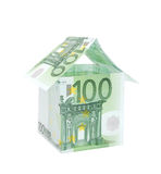 A house made from euro bills Royalty Free Stock Image