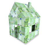 House made of 100 Euro bills Stock Photos