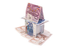 A house made from euro bills Royalty Free Stock Images