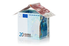 House made of euro money Stock Photos