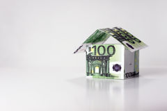 House made from 100 Euros banknotes Stock Photography
