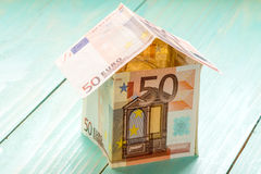 House Made From Fifty Euro Banknotes Royalty Free Stock Images