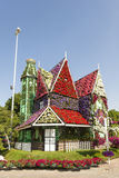 House made of flowers at the Miracle Garden in Dubai Stock Images