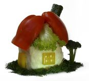 House made from fresh vegetables Royalty Free Stock Image