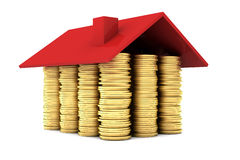 House made of Gold Coins Royalty Free Stock Photos