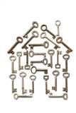 House Made From Keys Stock Photography