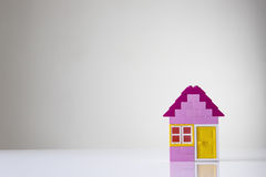 House made of kids building bricks Royalty Free Stock Image