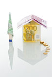 House made of money Royalty Free Stock Images
