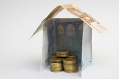 House made from money Royalty Free Stock Photos