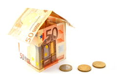 House made of money Royalty Free Stock Photography