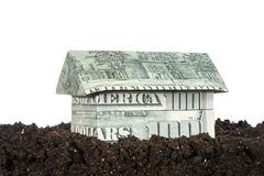 House made of money on the ground Stock Images