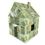 House made of  20 New Zealand Dollar notes. House made of  twenty New Zealand Dollar notes Royalty Free Stock Photos