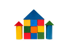House made of old cubes. Stock Images