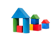 House made of old cubes. Royalty Free Stock Photo