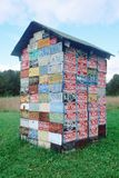 House made out of license plates Royalty Free Stock Photo